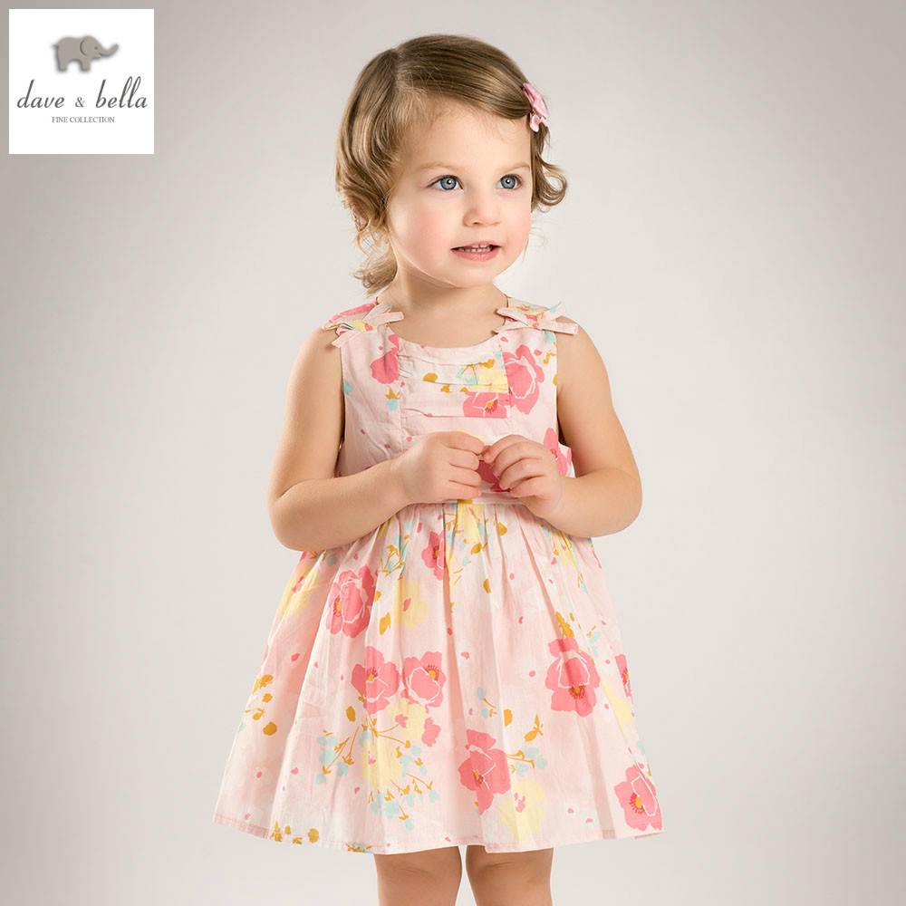 DB4824 dave bella summer baby girl princess floral dress baby wedding dress kids birthday clothes dress girls Lolita dress db5498 dave bella baby girl lolita dress stylish printed peter pan collar dress toddler children dress