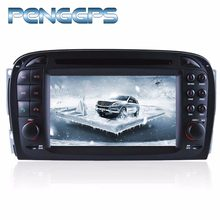 Octa Núcleo CD DVD Player 2 R230 Estéreo Din Android 8.0 Car Radio para Mercedes SL 2001-2004 GPS navegação Autoradio unidade central(China)