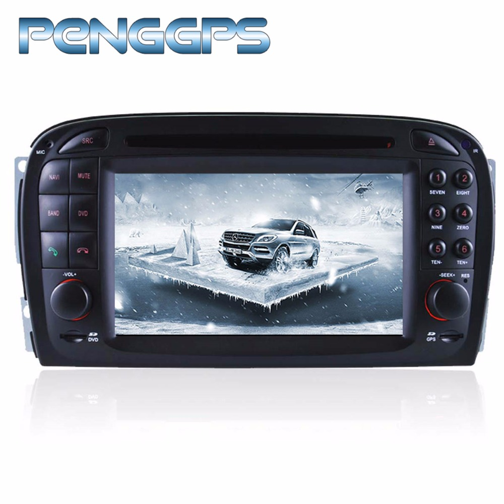 Octa Core CD DVD Player 2 Din Stereo Android 8.0 Car Radio for Mercedes SL R230 2001 2004 GPS Navigation Autoradio Headunit