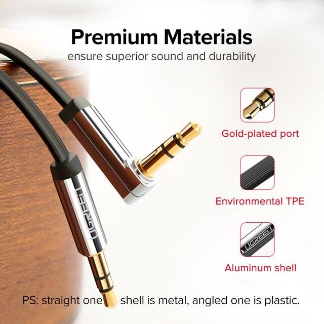 Ugreen AUX Cable Jack 3.5mm Audio Cable 3.5 mm Jack Speaker Cable for JBL Headphones Car Xiaomi redmi 5 plus Oneplus 5t AUX Cord 5