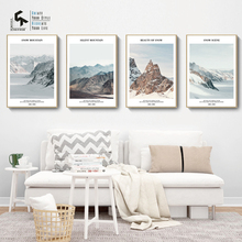 CREATE&RECREATE Nordic Poster Snow Mountain Landscape And Prints Wall Art Canvas Painting Decorative Picture CR1810105026