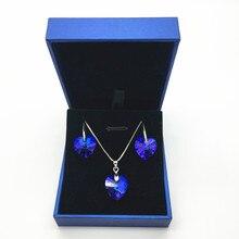d261411fce91e MS Betti cristal de Swarovski Océano Azul corazón nupcial joyería conjunto  para mujeres nueva temporada moda 2018 joyería de bod.