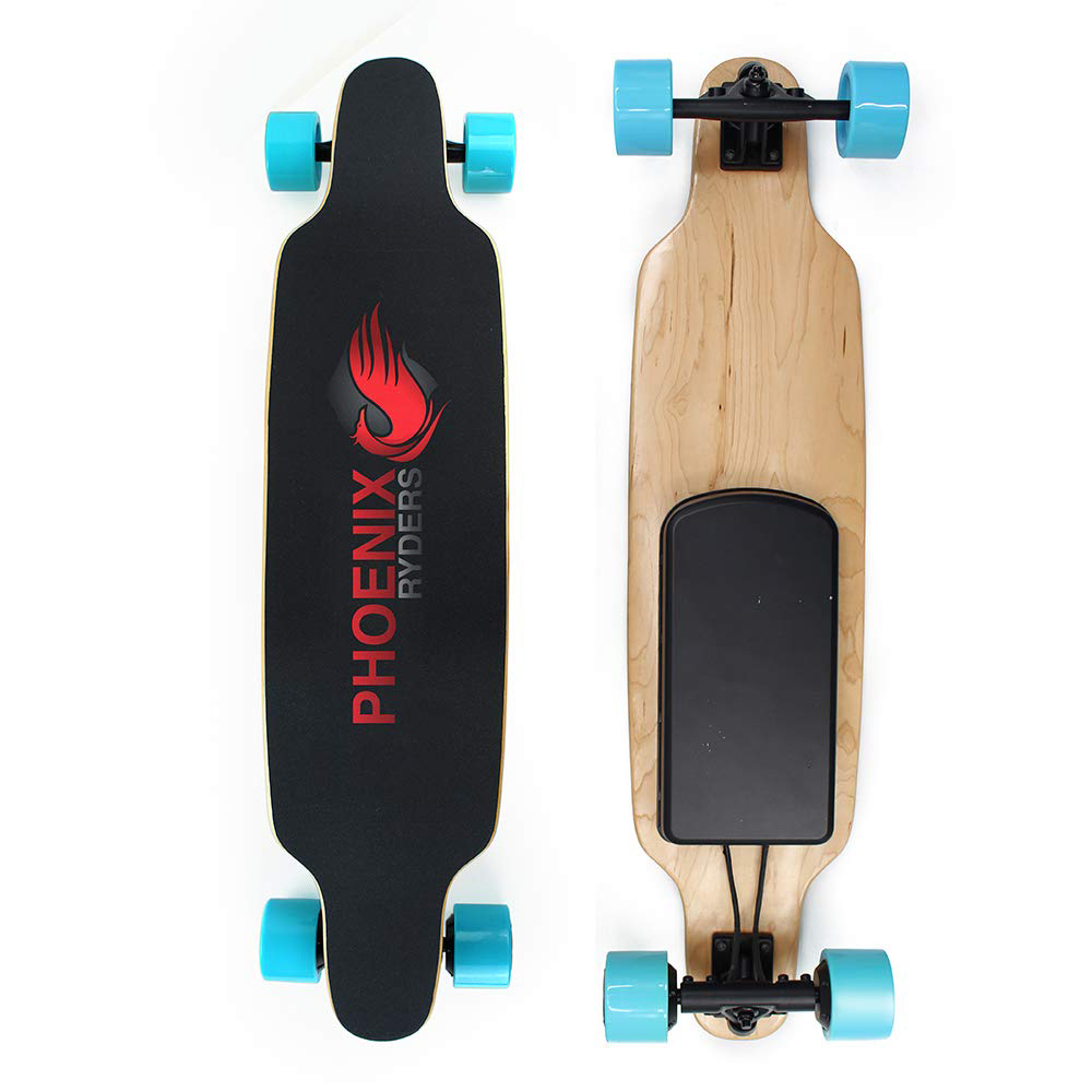 Cyrusher PHOENIX RYDERS P5 skateboard électrique Double Moteurs 14 Miles Gamme 18.6 MPH Avec télécommande