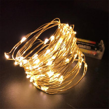 LED Garland Christmas indoor String Lights 5M 16ft 50LEDS Copper Wire Battery Powered Fairy Lights Home Decoration 5m 50leds battery powered led rope tube string lights fairy light waterproof outdoor christmas garden path fence tree lights