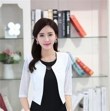 Fashion Female White Blazers Women Outerwear Jackets Slim Elegant Ladies Work Wear Business Clothes Office Uniform Styles Tops