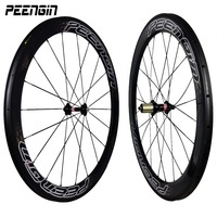 Carbon Wheelset Green Black Stickers 50mm 60mm Road Bike Racing 25mm Wide U Shape Tubular 20