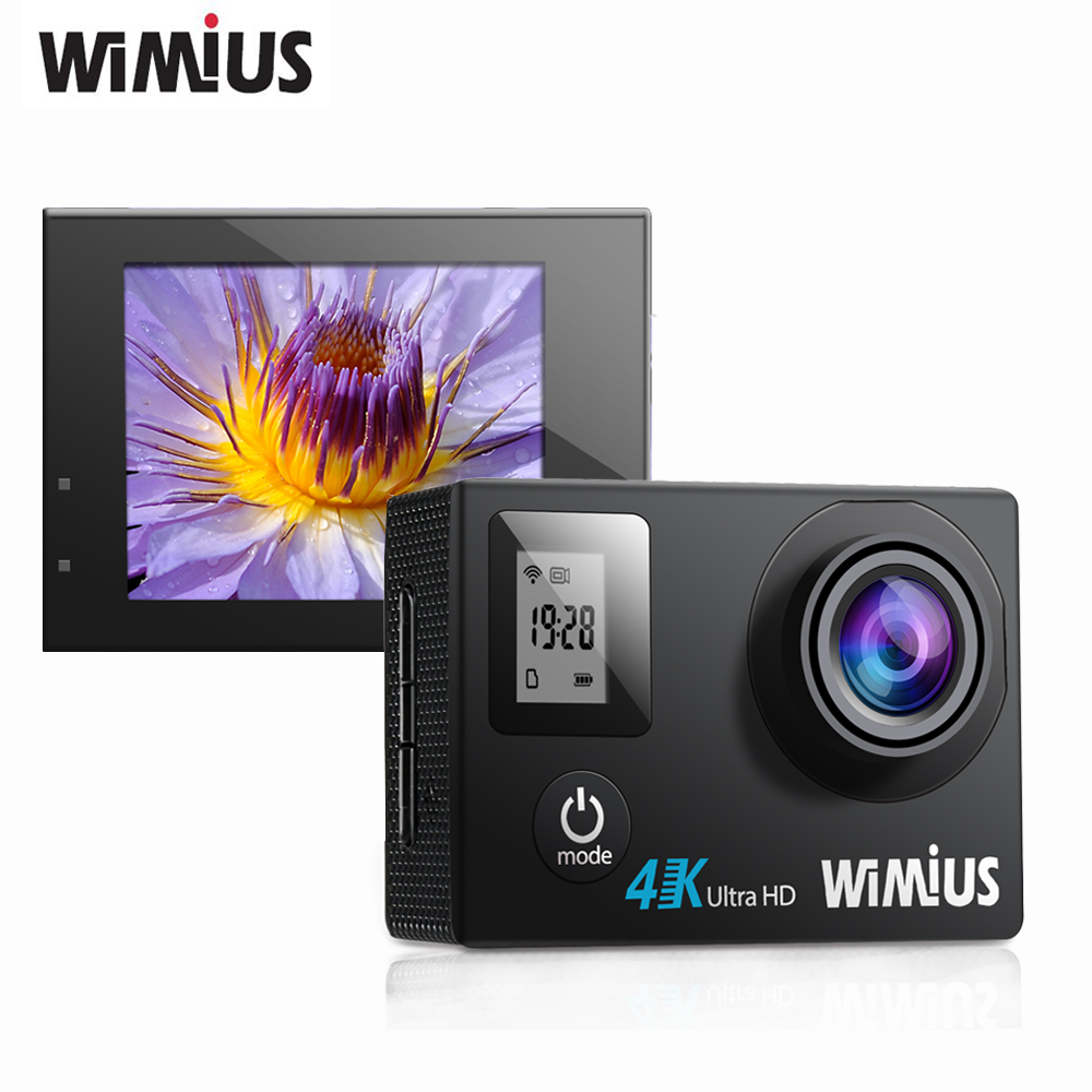 Wimius q4 action sports cámara 4 k 30fps wifi ultra hd 1080 p Pantalla 16MP Dual