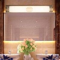 Китайский передних зеркал ванной лампы шкаф настенный светильник новый китайский классический led зеркало Лонг Ретро Бронзовый/черный LU71595