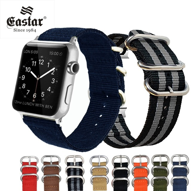 Eastar тканые нейлон мягкие замена ремешок для Apple Watch Series 3/2/1 классической пряжкой 42 мм 38 мм ремешок для iwatch Группа