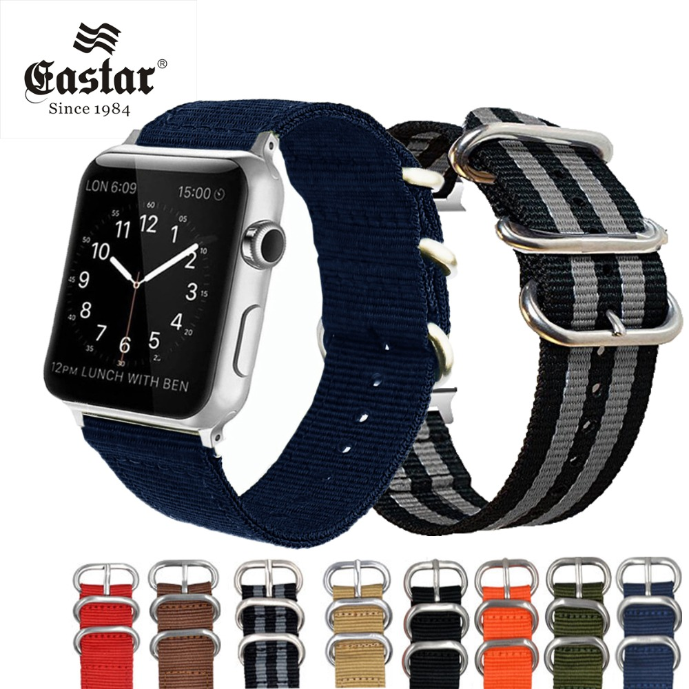 59e1703b2c4 Eastar Woven Nylon Soft Replacement Watchband for Apple Watch Series 3 2 1  Classic Buckle 42 mm 38 mm Strap For iwatch Band