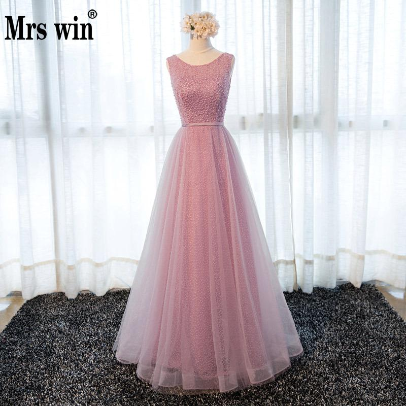 2019 New Robe De Soiree Mrs Win Vintage Evening Dresses Luxury Lace Estido De Festa 2 Colors Party Prom Formal Dress F