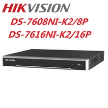 4K Hikvision DS-7608NI-K2/8P DS-7616NI-K2/16P English version 8/16POE ports  NVR with 2SATA plug & play H.265