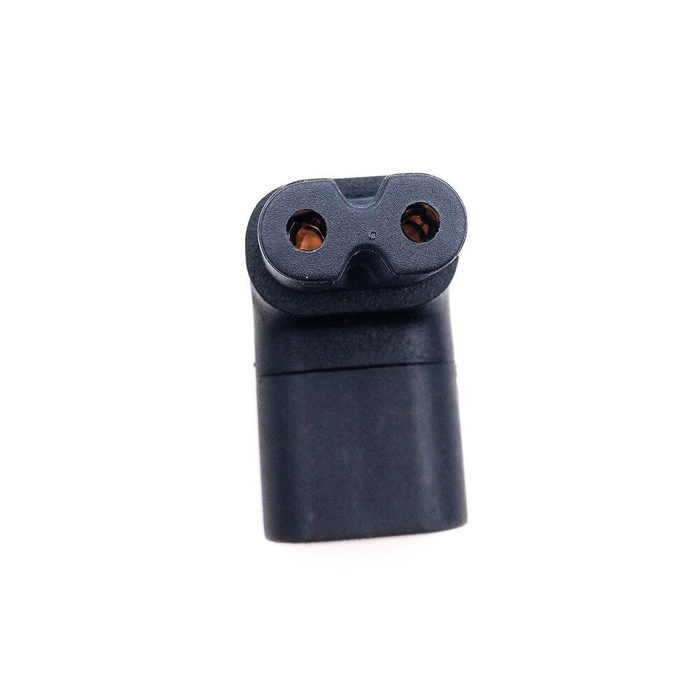 Купить с кэшбэком 1Pc IEC 320 2-Pin C7 Female To C8 Male Right Angled AC Power Adapter Converter