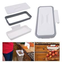 Шкаф, дверь, стеллаж для хранения, квадратный удобный мешок для мусора, дверь, подвесной стеллаж для мусора, экономичный держатель для мусорного мешка, пластиковый ящик