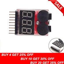 1/2pcs 1-8S светодиодный сигнал низкого напряжения сигнал тревоги Lipo индикатор напряжения проверки Тестер