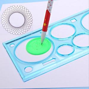 Image 5 - 20packs/lot Nuovi Bambini Di Puzzle Colorato Disegno Righello set tavolo da disegno strumento Spirograph righello degli studenti zakka strumenti FAI DA TE cancelleria