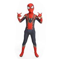 Purim Carnival Party Iron Spiderman Costume Spandex Cosplay Spider Man Kids Children Adult Costumes Bodysuit Suit Jumpsuit