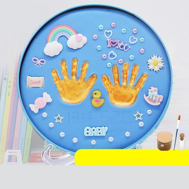 Baby Hands Feet Prints Diy Clay Set Toy Souvenir Infant Hand Foot Mud Children's Birthday Baby Gift Box