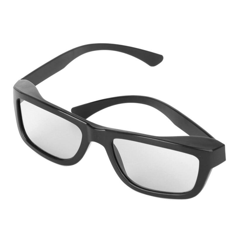 2017 Circular Polarized Passive 3D Glasses Stereo Black For 3D TV Real D IMAX Cinemas