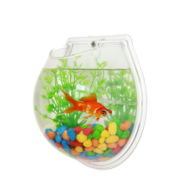Sunsun acrylic decoration aquarium wall mounted aquarium for Acrylic fish bowl
