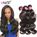 UNice Hair Offical Store 7A Peruvian Virgin Hair Bundles 3pcs/lot Peruvian Virgin Hair Body Wave Unprocessed Human Hair Weave