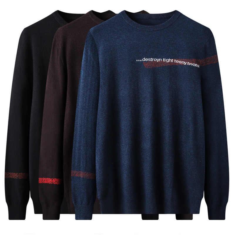 Новинка 2018, Мужское пальто, шерстяной свитер с длинными рукавами, вязаные мужские Рождественские Свитера и модные пуловеры, Мужские размеры 7XL 8XL