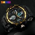 Skmei dos homens digital led relógio de quartzo esportes dos homens relógios marca de moda resistente ao choque de pulso relojes militar ao ar livre