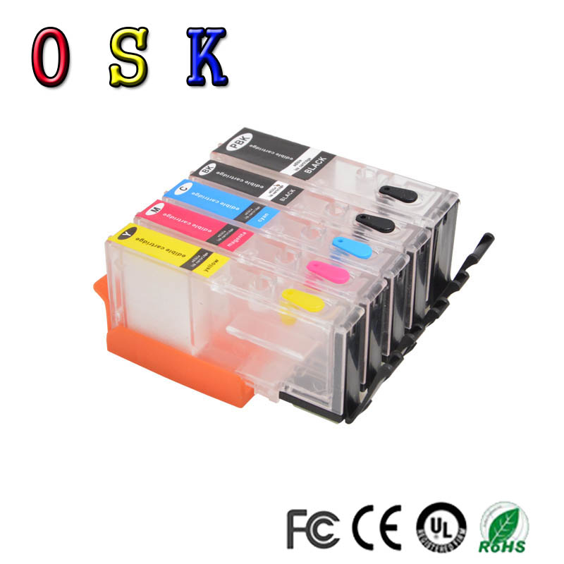 OSK PGI580 PGI-<font><b>580</b></font> CLI-581 Refillable Ink Cartridge For <font><b>Canon</b></font> CLI581 PGI <font><b>580</b></font> PIXMA TR7550 TR8550 TS6150 TS8150 TS9150 TS9155 image