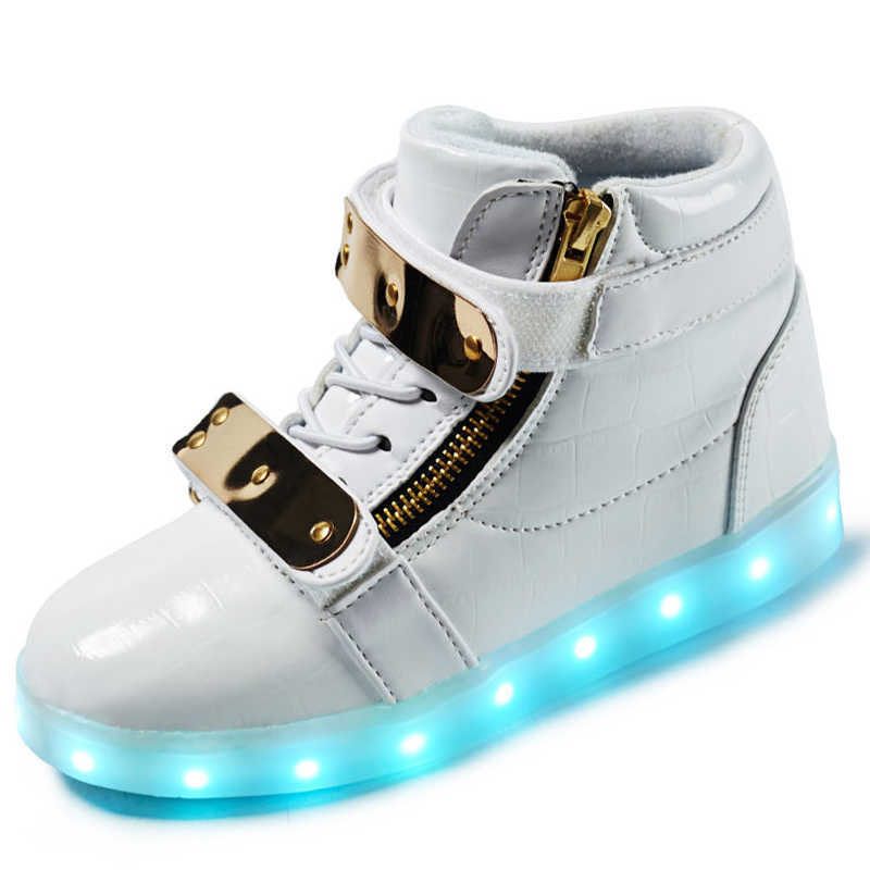 Children Led Shoes Kids Glowing Sneakers Usb Charged Boys Girls High-top Litht up Shoes Child Casual Sneaker with Luminous Soles