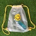 Children Transparent Backpacks For Teenage Girls Simple Face Mini Shoulders Bag Plastic Schoolbag Mochila Infantil Com Rodinha