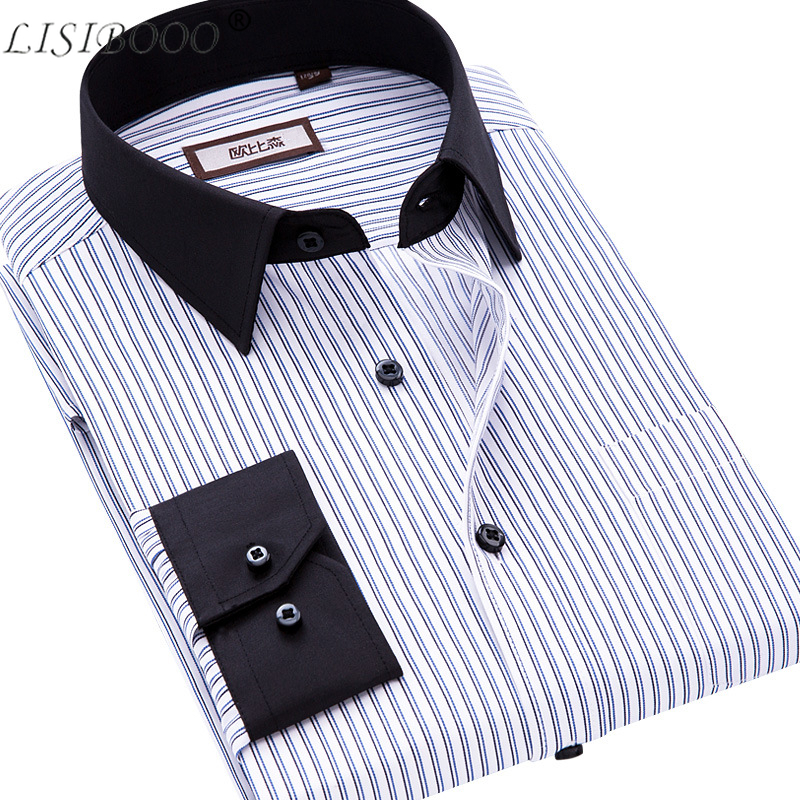 Spring And Autumn Men Casual Shirt Long Sleeve Mens Business Casual Shirt Mens Dress Shirts Striped Men Shirt Camisa Masculina