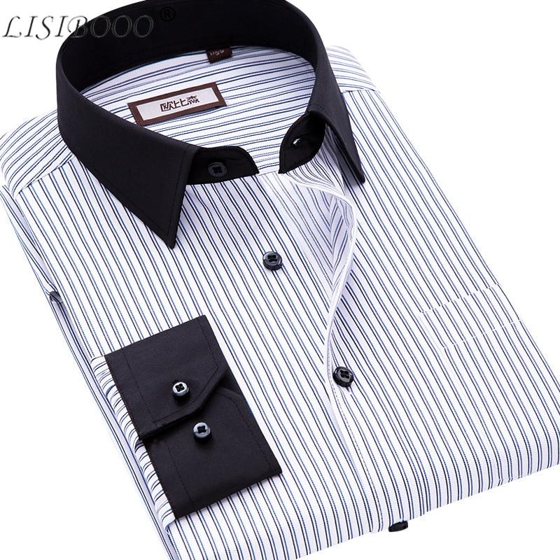 Spring And Autumn Men Casual Shirt Long Sleeve Mens Business Casual Shirt Mens Dress Shirts Striped Men Shirt Camisa Masculina