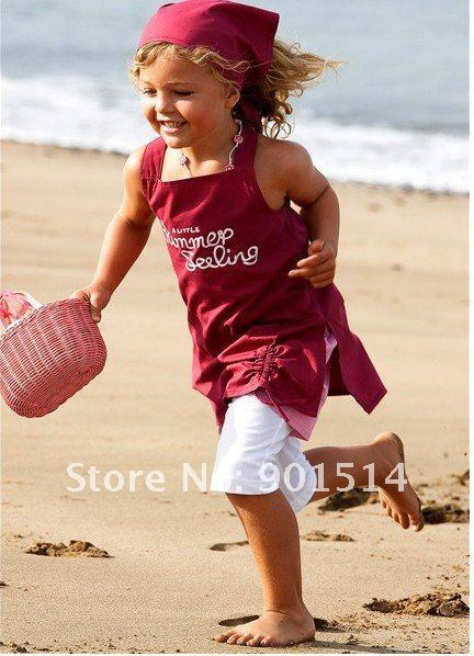 2016 Newest girls summer suits girls beach sets with headband shirt shorts girls sets Free shipping