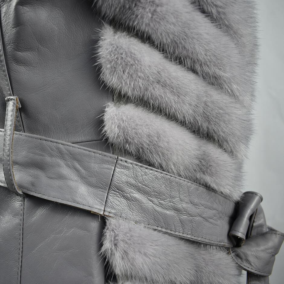 Fourrure champagne Mode De dark Nouvelle Color Manteau Coupe Grey Jolies Vison vent Dames Grey Gilet Light 2018 FqZSxBw5B