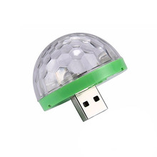Mini Stage Lights Voice Control Little Magic Ball light RGB Phone USB Android IPhone Rotate Stage Lights