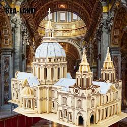 Diy Kinder Spielzeug Von 3D Holz Puzzle Für Kinder Und Erwachsene St. paul der Kathedrale EINE Qualität Montessori Educationaly Spielzeug Als Hobby Geschenk