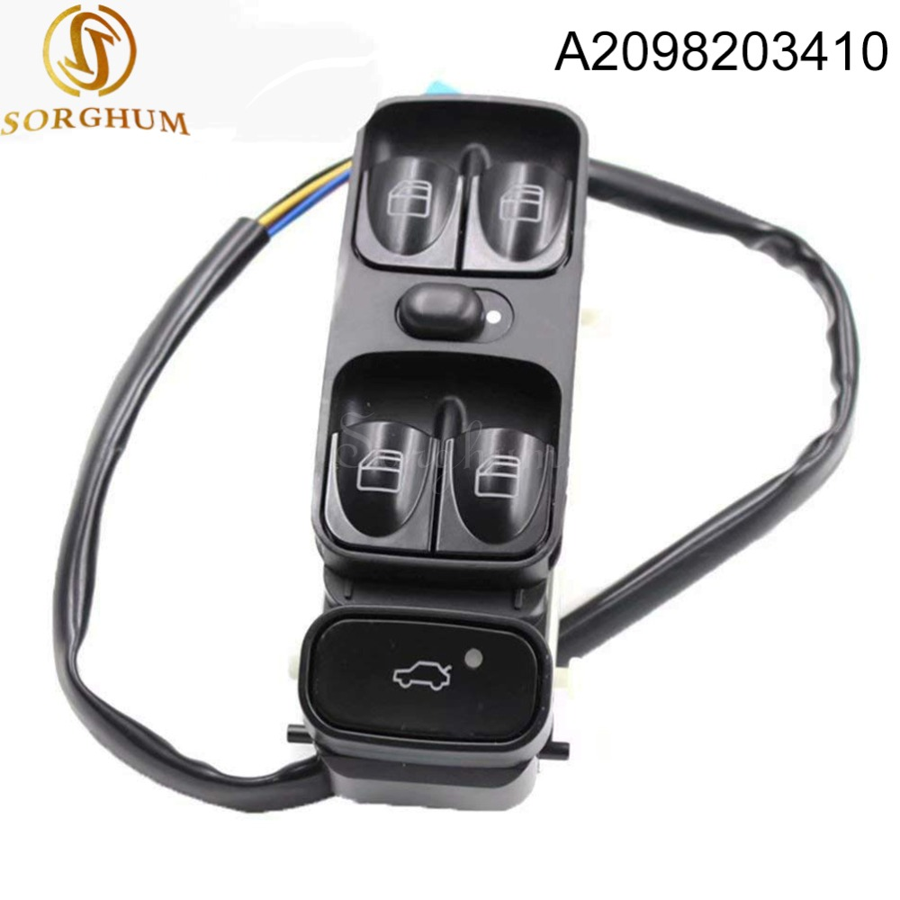 New A2098203410 A2038200110 Power Control Window Switch For MERCEDES C CLASS <font><b>W203</b></font> C180 <font><b>C200</b></font> C220 2038210679 A2038210679 image