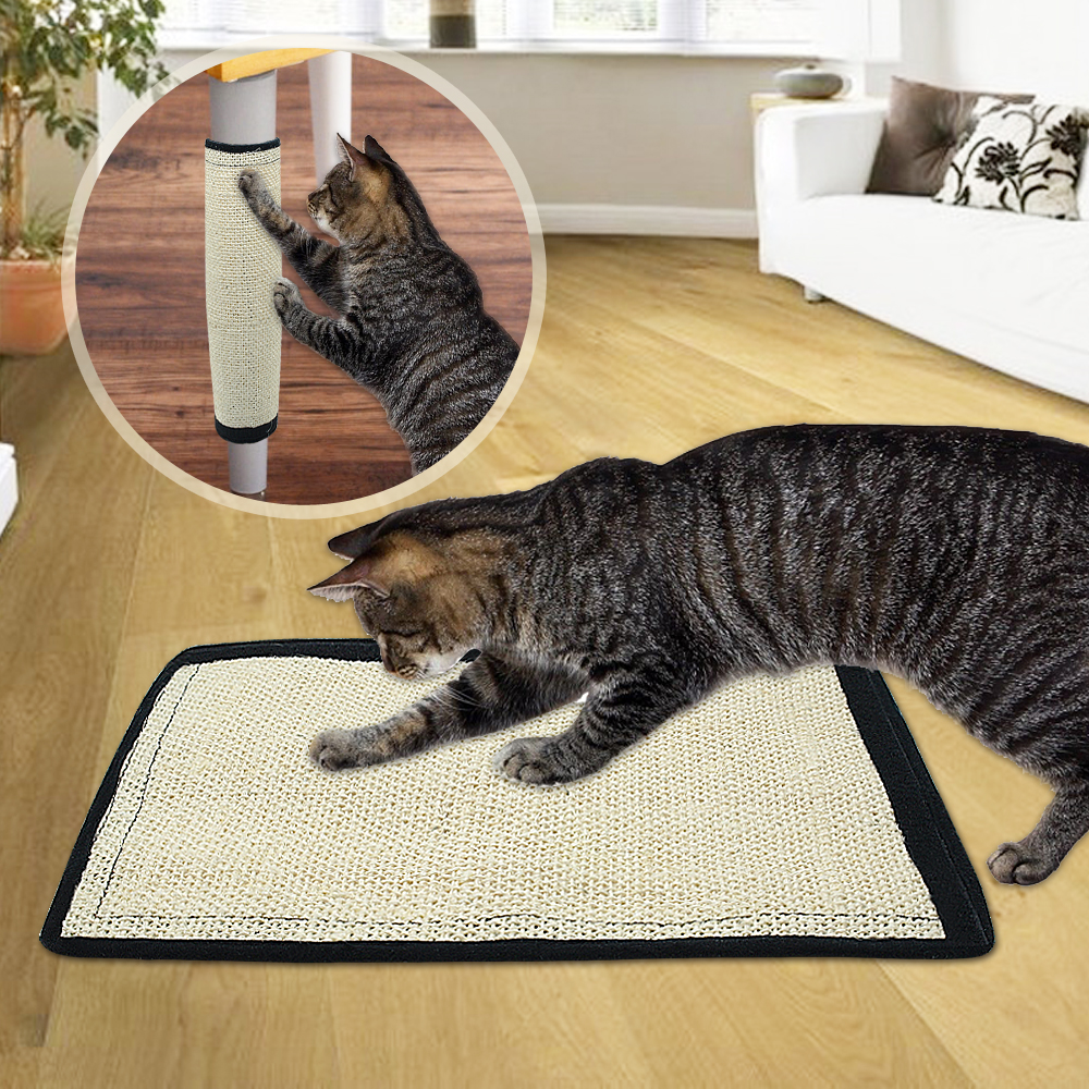 Natural Cat Scratcher Board Scratching Post Mat Toy Pad For Cats Protecting Furniture Grind Claws Cat Scratch Toy