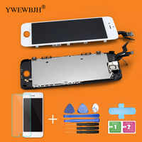 LCD Screen for iPhone 5S 6G Replacemement Touch Digitizer Full Assembly Display Front Camera Full Set black white