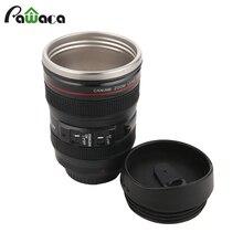 Nueva 400 ml acero inoxidable lente de la cámara caniam taza de viaje taza de café Taza de té Con Tapa de Bebida Oficina Termos Regalo Creativo