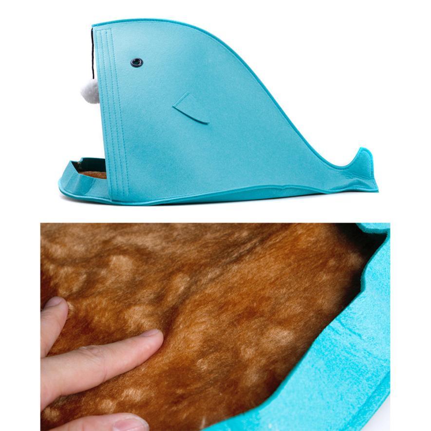 Shark Shape Dog Beds Warm Soft Foldable Dog House 2017 o30