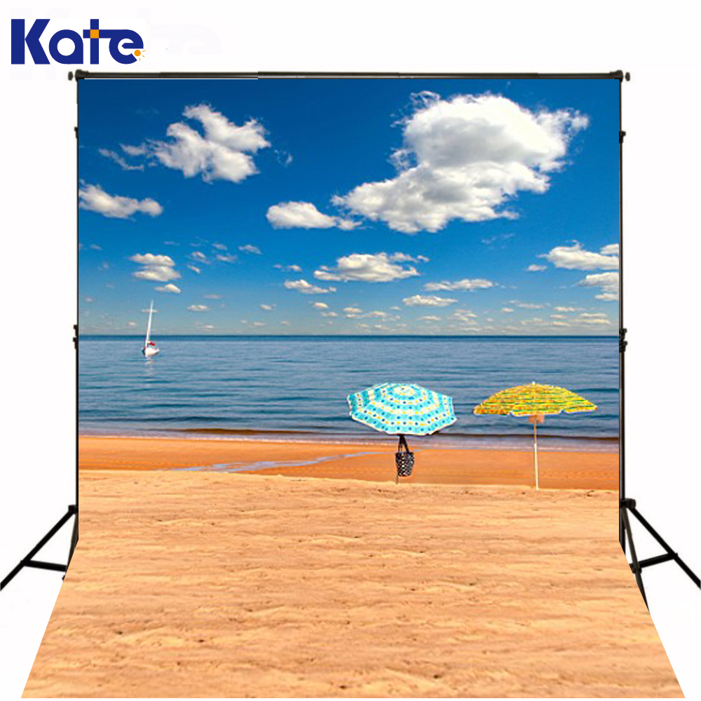 300Cm*200Cm(About 10Ft*6.5Ft) Fundo Seaside Beach Umbrellas3D Baby Photography Backdrop Background Lk 1895 300cm 200cm about 10ft 6 5ft fundo red cloud beach birds3d baby photography backdrop background lk 2065