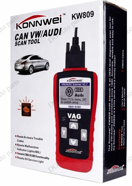 Car Diagnostic Scanner Konnwei  KW809/VAG405 OBDII / CAN  Code Reader Tool for VW Audi hot sale obd2 scanner kw808 car diagnostic code reader can engine reset tool konnwei auto scanner coverage us asian