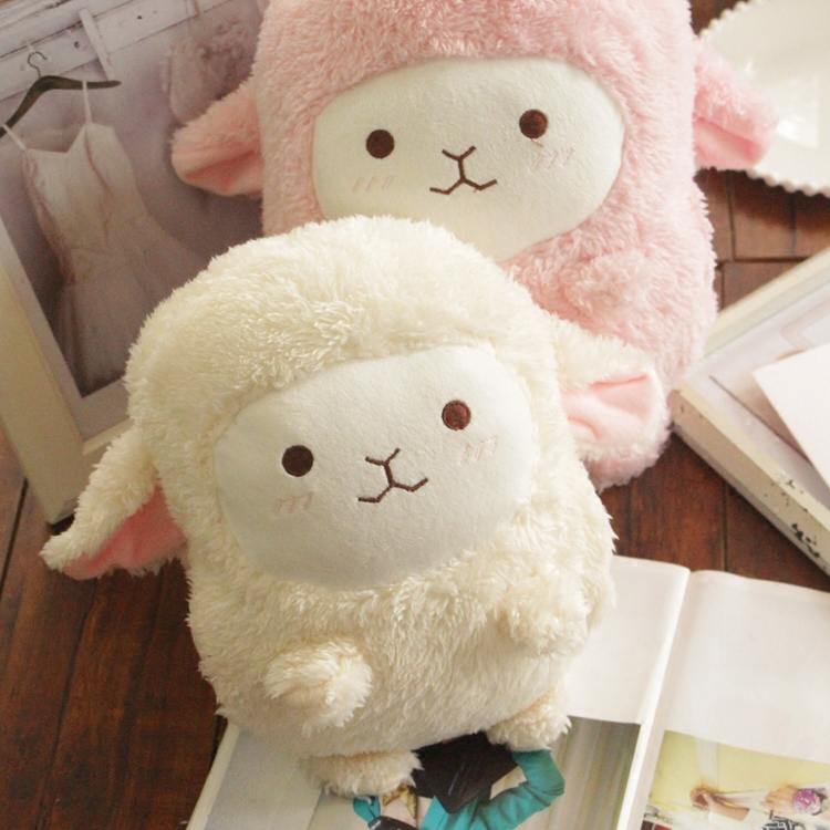 candice guo! super cute plush toy lovely sheep lamb cushion hand warm blanket pink white girls birthday Christmas gift 1pc игровые наборы dickie игровой набор аэропорт