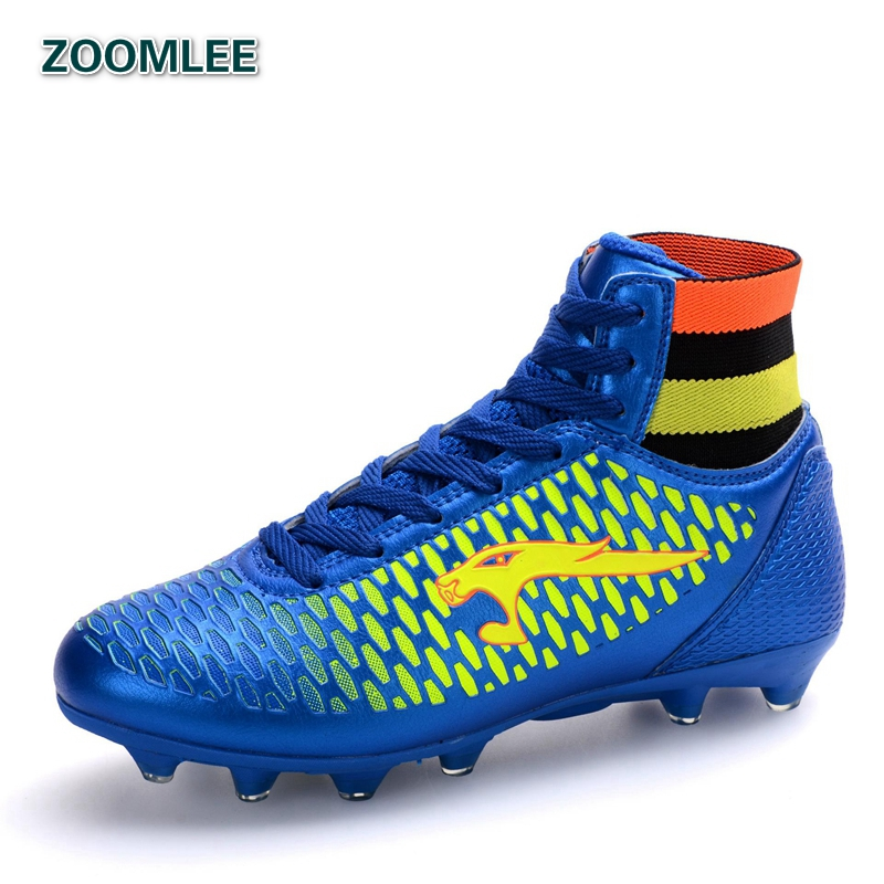 Brand High Top Mens Original Soccer Cleats Outdoor Training Men Football Boots Adult Ankle Sport Soccer Shoes Size 35-44