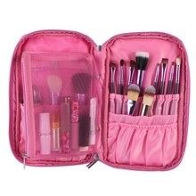 10 pcs Makeup Brushes Set Tools Make-up Toiletry Kit Wool Brand Make Up Brush Set Case Cosmetic Bag Travel Package S2