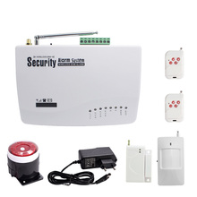 1 Set Home Security GSM SMS Alarm System Put In SIM card arming disarming by cellphone Wireless Door open alarm smoke sensor