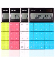 Creative Fashion Portable With Diamond 12 Digits Pocket Calculator Mini Handheld Function Dual Power Students Children