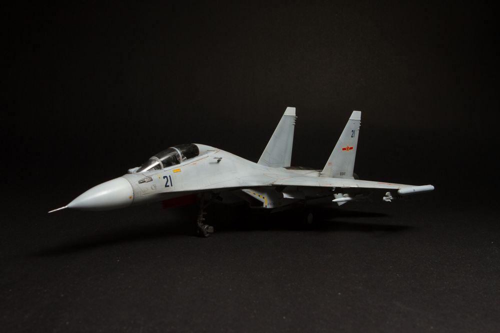 Assemblé modèle d'avion militaire simulation 1/48 Su Su-30 mk chasseur-bombardier combattants modèle avions