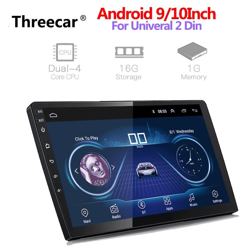 Newest 2 Din Android Car Radio GPS Navigation 9 10 2din Universal Car Stereo Audio Bluetooth Wifi USB No DVD Autoradio MP5